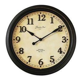 ANDEa Runde einfache Quarz Uhr Retro tun alte kreative Wanduhr stumm Schlafzimmer Wohnzimmer Uhren und Uhren 39.5 * 39.5CM Creative.a ( Farbe : #1 ) - 1