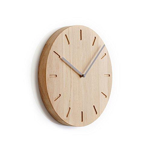 Applicata Watch:Out Wanduhren, Uhren, Holzuhren, Wallclocks, D: 32 cm (Eiche - Grau) - 1
