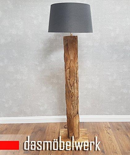 dasm belwerk xxl stehlampe leuchte massiv teak treibholz lampe leinen schirm rund 1 redidoplanet. Black Bedroom Furniture Sets. Home Design Ideas