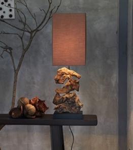 Designlampe aus Treibholz HIGHLAND dunkel, Höhe ca. 48 cm - 1