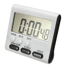 Digital Elektronischer Timer, KOBWA 24h Magnetische KüchenTimer Küchenuhr Kurzzeitmesser Stoppuhr mit Laut Alarm, Großem Display-Bildschirm, Einziehbare Standplatz Hook, Starke Magnetische Rückseite (inklusive Batterie) - 1