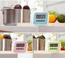ELEGIANT Digital große LCD Display Küchentimer Küchenuhr Kurzzeitmesser Kurzzeitwecker elektronischer Timer KITCHEN COOKING Time ''Countdown'' mit Magnethalter Grün - 1