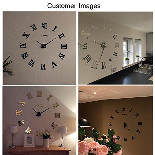 fas1 moderne diy gro e wanduhr big armbanduhr aufkleber 3d spiegel aufkleber r mischen ziffern. Black Bedroom Furniture Sets. Home Design Ideas