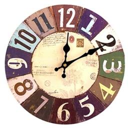 FOKOM 12 Zoll Lautlos Vintage Wanduhr Uhr Wall Clock ohne Tickgeräusche - 1