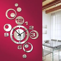 Grandora W842 Moderne Wanduhr mit Spiegel Uhr Uhrwerk - 1