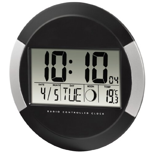 hama digitale wanduhr pp 245 funkuhr mit thermometer zeitzoneneinstellung kalender und. Black Bedroom Furniture Sets. Home Design Ideas