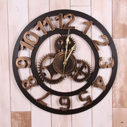Industrie Stil Jahrgang Wanduhr Tut Die Alte Antike Uhr 50 * 50cm - 1