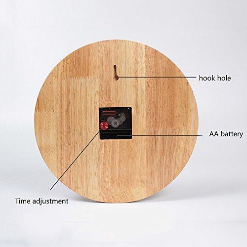 kklock wanduhr uhr wanduhren ohne ticken lautlos f r wohnzimmer b ro schlafzimmer k che. Black Bedroom Furniture Sets. Home Design Ideas
