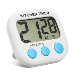 Küchen Timer ,Topist Digitale Küchenuhr/ Elektronischer Timer/Küchentimer/Kochentimer/,Digital Timer mit Großem Bildschirm und Magnet für die Küche zum Kochen, Backen, Spiele, Sport und Büro - 1