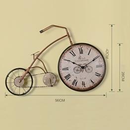 Longshien Wanduhr Retro Wind Wohnzimmer Kreative Bike-Taktgeber-Wand-Dekoration Eisen Persönlichkeit Uhren und Uhren an der Wand-Dekorationen Wanduhr ( design : B ) - 1