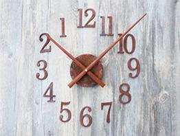Lozse Retro alte Eisen Metall DIY Kreative Wanduhr Zeit rückwärts Zeiger Umkehrung Clock - 1