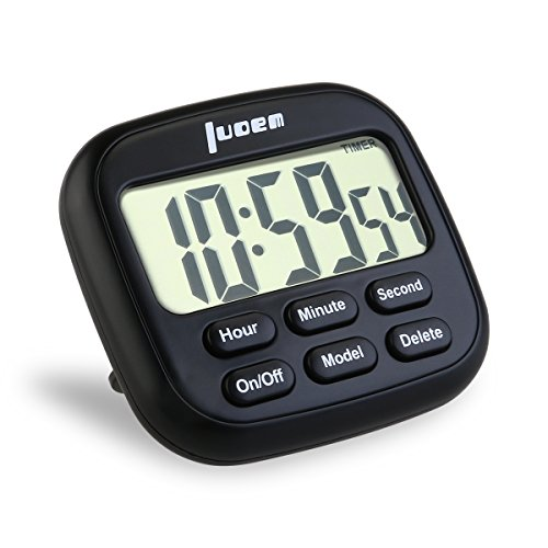 luoem k chentimer digital timer 24 stunden k chen timer mit gro es lcd display und alarm laut. Black Bedroom Furniture Sets. Home Design Ideas