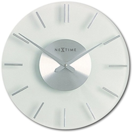 NeXtime 2631 Wall Clock, Stripe, 26 cm, glass - 1