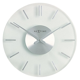 NeXtime 2632 Wall Clock, Stripe, 31 cm, glass - 1