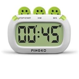 PINGKO Digital Küchentimer, Fashion Design mit großen Ziffern lauten Alarm - Grün - 1