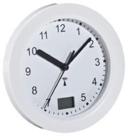 TFA 60.3501 Funk-Badezimmeruhr mit Temperaturanzeige Funkuhr mit höchster Genauigkeit, 4 große Saugnäpfe - Befestigung - 1
