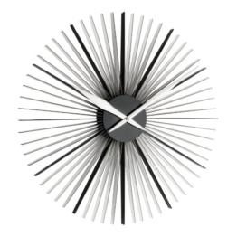 """TFA Dostmann 60.3023.01 """"Daisy"""" XXL Design-Wanduhr, moderne außergewöhnliche Form, schwarz / transparent - 1"""