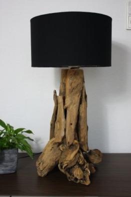 Tischlampe Teakholz 67cm H - 1