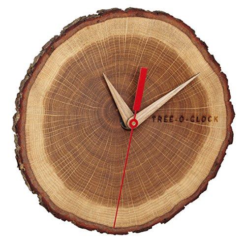 Tree-o-clock Wanduhr aus echtem Holz TFA Dostmann 60.3046.08 - 1