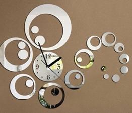 URAQT 3D Modern Wanduhr Acryl, DIY Kreatives Design, Groß Dekoration Uhr Deko Wandtattoo, Öffentliche Plätze Wohnzimmer Büro Studierzimmer - 1