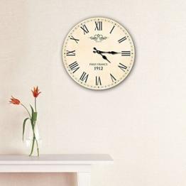 Walplus(TM) - Wanduhr Vintage Paris Frankreich Große Uhr Alter Stil Innenraum Wanddekoration - 1