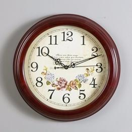 wanduhr Amerikanische Land Holz Wanduhr Uhr Quarz Auf Einfachen Europäischen Stil Der Alten Hölzernen Mahagoni - Chinesische Wohnzimmer,B - 1