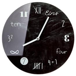 Wanduhr Uhr Glas Tafeldesign D 17cm - 1