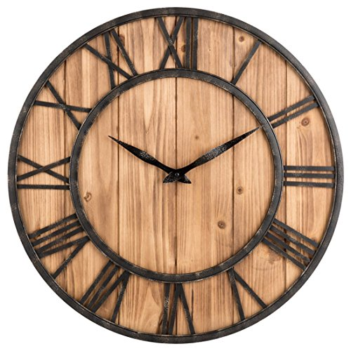 wanduhr vintage likeluk 15 zoll 40cm lautlos vintage wanduhr holz uhr uhren wall clock ohne. Black Bedroom Furniture Sets. Home Design Ideas