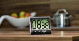 Xavax Digitaler Küchentimer mit Timer- und Stopp-Uhr-Funktion (Befestigung via Magnet, Clip, Hänger oder Aufsteller) batteriebetrieben, schwarz - 2