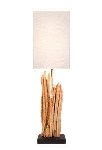 XL Design Stehleuchte aus Treibholz TIMELESS, 70 cm hoch, hell - 1
