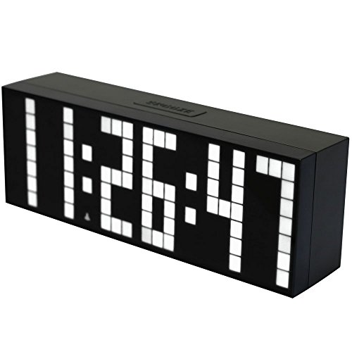 bestland led digital wecker wanduhr tischuhr mit soft licht gro e hd display snooze funktion. Black Bedroom Furniture Sets. Home Design Ideas