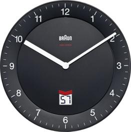Braun-Funkwanduhr, LCD, Stille Deutsche Präzision Quarzwerk BNC006BKBK - 1