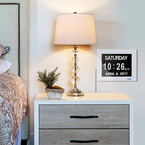 demenz tagesuhr ged chtnisverlust digitalkalender tagesuhr mit extra gro em nicht abgek rztem. Black Bedroom Furniture Sets. Home Design Ideas