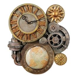 Design Toscano Getriebe der Zeit, Skulpturale Wanduhr - 1