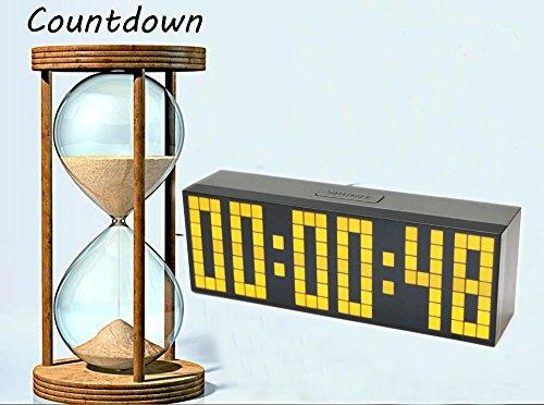 lambtown 2nd generation snooze led digital wecker gro e countdown timer mit thermometer kalender. Black Bedroom Furniture Sets. Home Design Ideas