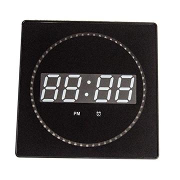 LED digitale Wanduhr mit Datum- & Temperaturanzeige, Maße: 32 cm x 32 cm x 3 cm (Farbe: Weiß) Goldfull® - 3