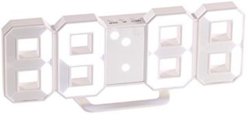 Lunartec Digitaluhr: Große Digital-LED-Tisch- & Wanduhr, 7 Segmente, dimmbar, Wecker, 21 cm (LED Tischuhr) - 3