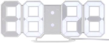 Lunartec Digitaluhr: Große Digital-LED-Tisch- & Wanduhr, 7 Segmente, dimmbar, Wecker, 21 cm (LED Tischuhr) - 4