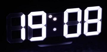 Lunartec Digitaluhr: Große Digital-LED-Tisch- & Wanduhr, 7 Segmente, dimmbar, Wecker, 21 cm (LED Tischuhr) - 8