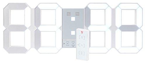lunartec jumbo led uhr digitale xxl led tisch wanduhr 45 cm dimmbar wecker fernbedien. Black Bedroom Furniture Sets. Home Design Ideas