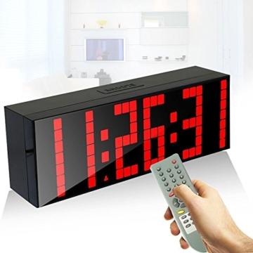 redlution gro e led uhr digitale wanduhr redidoplanet. Black Bedroom Furniture Sets. Home Design Ideas