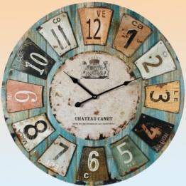 Uhr Wanduhr Romantik Landhaus 60 cm Vintage Antik Look II 73 - 1