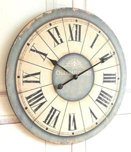 Wanduhr 'Antik' in im Landhaus Shabby Chic french Stil, Durchmesser 60cm - 1