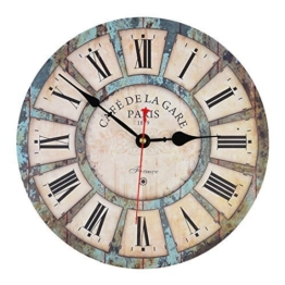 Wanduhr Vintage, iTECHOR 12-Zoll(30cm) Lautlos Vintage Wanduhr Uhr Uhren Wall Clock ohne Tickgeräusche - 1