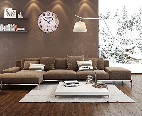 wanduhr vintage k chenuhr von lilienburg braun antik shabby chic design wand m 3 redidoplanet. Black Bedroom Furniture Sets. Home Design Ideas
