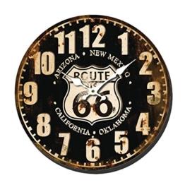 40cm Metall Wanduhr - Designer Uhr ROUTE 66 ARIZONA Kalifornien - XXL - Retro Landhaus Vintage Style Design Grungy - 1