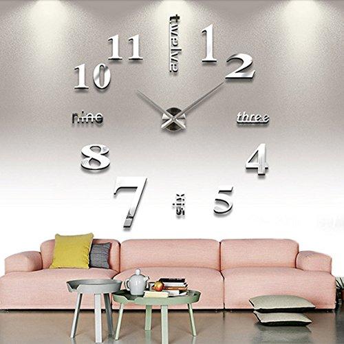anself diy grosse wanduhr 3d spiegel aufkleber wandtattoo dekoration uhr zimmerdeko. Black Bedroom Furniture Sets. Home Design Ideas
