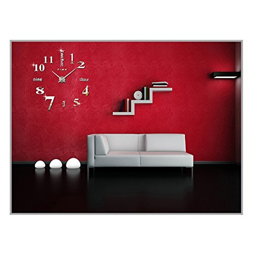 diy 3d wanduhren modern design acryl wanduhren wandtattoo. Black Bedroom Furniture Sets. Home Design Ideas