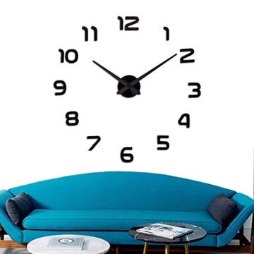 diy wanduhr 3d moderne wanduhren redidoplanet. Black Bedroom Furniture Sets. Home Design Ideas
