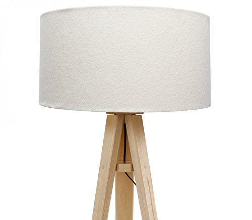 dreibein stehlampe jalua f velours creme gold stativ aus kiefernholz h 140cm 2 redidoplanet. Black Bedroom Furniture Sets. Home Design Ideas